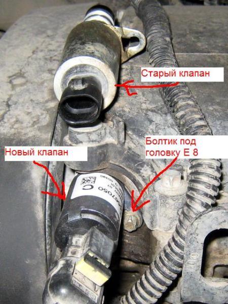 замена фазорегулятора опель z18xer